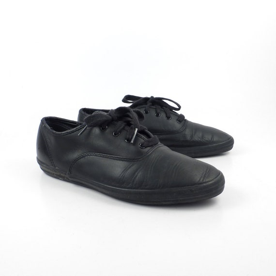 black leather keds sneakers vintage 1990s shoes s