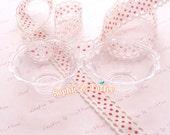 Miniature Sundae Bowl / Miniature Plastic Bowl / Clear Plastic Bowl / Dolly Bowl with Hole - 5pcs