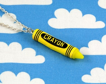 Yellow Crayon Necklace