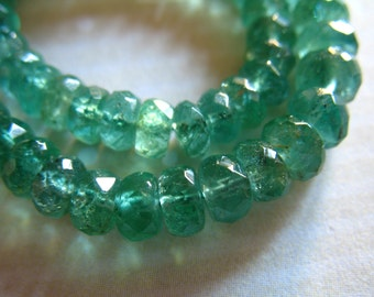 Shop Sale.. 10 25 50 pcs, EMERALD RONDELLES Beads, Luxe AAA Zambian Emeralds, 3.5-4.5 mm, Larger, may birthstone bridal holidays 40 solo