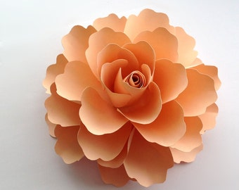 Paper flower The Athena in any colour 7 inches