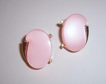 Vintage Pink Earrings - Clip Ons