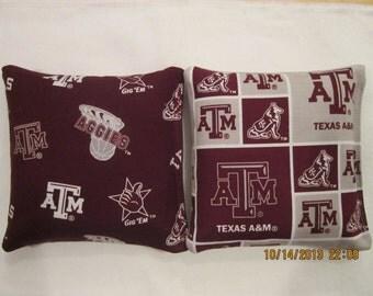 Texas A&M Auggies University set of 8 Cornhole Bags  baggo bean corn hole Free Shipping
