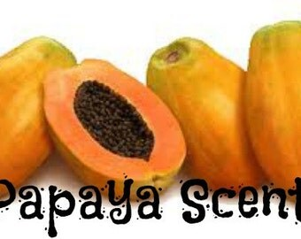PAPAYA Scented Soy Wax Melts - Fresh Sweet Juicy Fruit Scented Soy Candle Tarts - Highly Scented - Hand Made And Poured In UsA