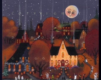 I Think Thats A Real Witch  a PRINT from the original Halloween  Witch Trick or Treat  By Deborah Gregg