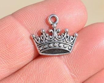 BULK 50  Silver  Crown Charms SC1680