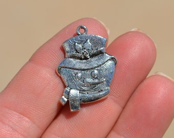 5 Silver Frosty the  Snowman  Charms SC2239