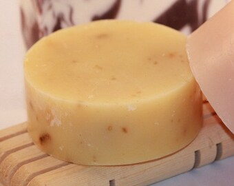 Facial Soap with clay and apricot seeds - excellent exfoliating facial bar for any skin type