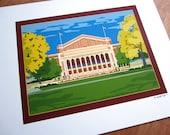 Northrop Auditorium, University of Minnesota, Giclee print
