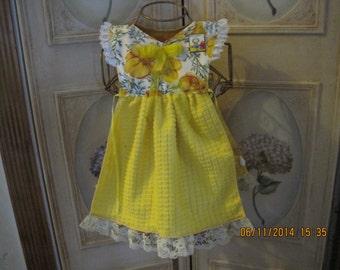Yellow Poppy Kitchen Towel Dress