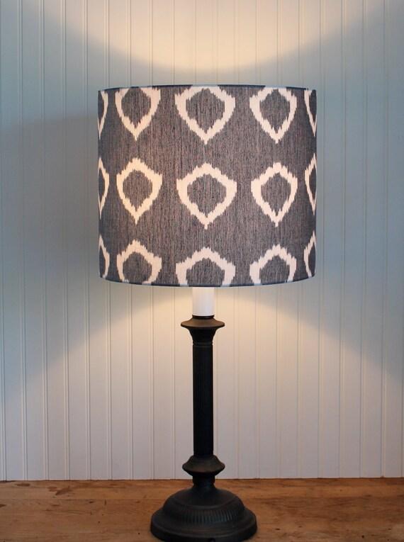 Lamp Shade Lampshade Drum Pendant Modern Nora Grey By