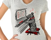 dog shirt - dog gifts - dog lover gift - dog lover - womens tshirts - animal shirt - music shirt - piano shirt - NOTEWORTHY - sport vneck