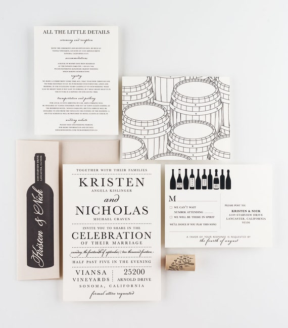 like this item - Winery Wedding Invitations