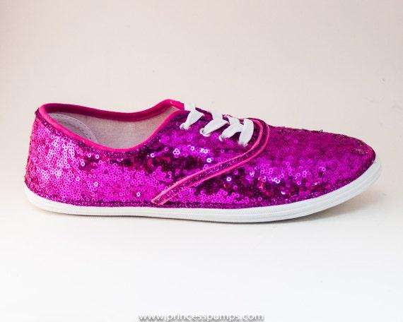 cvo fuchsia pink sequin canvas sneaker tennis by