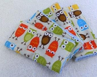 Warm Owl Wash Cloths - Set of 4