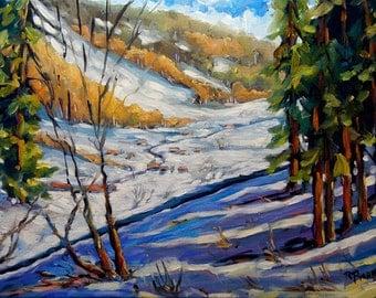 Winter Wonderland - Fine arts Original Oil Painting by Richard T. Pranke