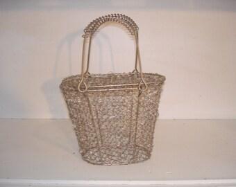 Vintage Estee Lauder Wire Purse     cosmetic case