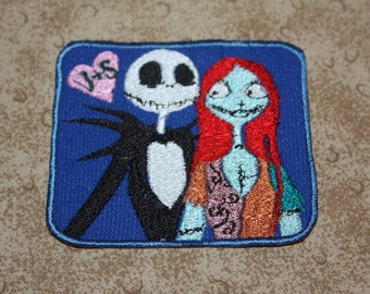 Jack and Sally Iron on Patch
