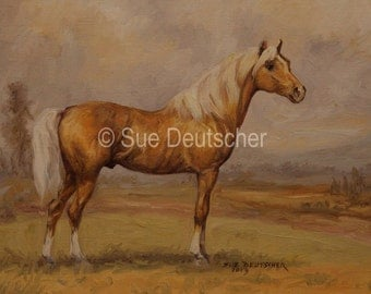 Palomino Horse 11x14 print