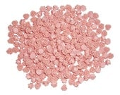 Peach Rose Cabochons 7.5mm (pack of 50)