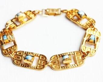 Sample Sale - Ornate Blue Stone Bracelet