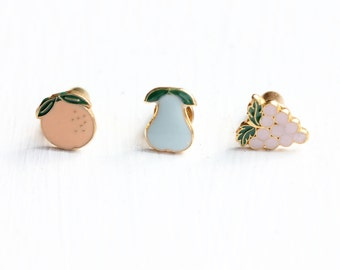 Tiny Fruit Pin Set
