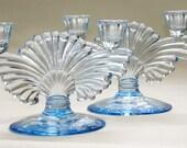 Paden City Glass Company Candle Holder Set Pattern #221