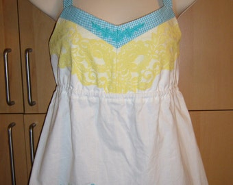 Handmade EMBROIDERED PILLOWCASE Top, SZ 12
