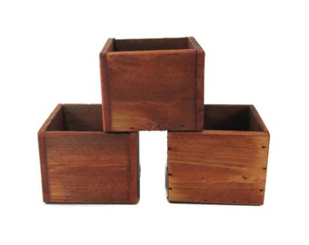 Wedding Centerpiece - Rustic Boxes Set of 3 - Rustic Wedding Decor - Event Decorations