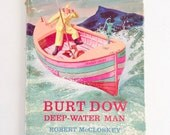 RaRe Robert McCloskey Autographed Book . BURT DOW Deep-Water Man . 1963 . Viking Press