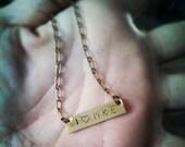 I Heart MKE Brass Necklace