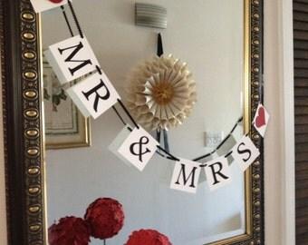 Mr & Mrs Wedding Banner - Ready to Ship