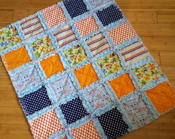 Pieces of Hope Baby Blanket / Raggedy Quilt