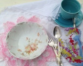 Shabby Chic Vintage Dish Fruit Bowl Salad Serving Germany  Welman