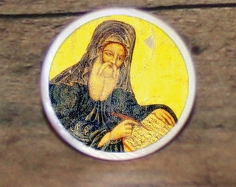 Saint St JOHN of DAMASCUS Tie tack or Cuff links or Ring or Pendant or Brooch