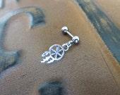 Mini Dream Catcher 16 Gauge Cartilage Helix Stud Piercing Bar Barbell 16g G Ga Jewelry Earring Ear Feather Dreamcatcher Charm