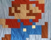SALE!! Tall Mario Lap Quilt