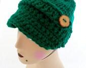 Clover Green Button Brim Hat