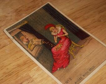 1880s advertising trading card Peerless Coffee