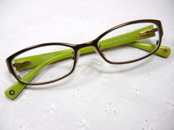 Coach Green Eyeglass Frames : Authentic COACH Eyeglasses / Willow green / Tortoiseshell