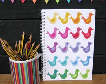 Paper Birds -  A5 spiral bound notebook