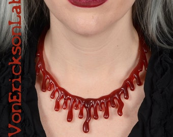 Dripping  Blood Necklace  - Low hanging  Extra Drippy
