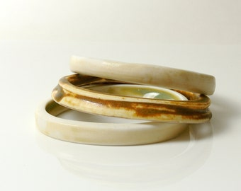 Bangle Set Porcelain Primitive Earthy