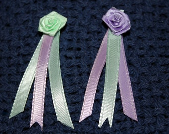 Small Model Horse Rosettes, 3 inches, Lavender and Mint, Set of 2 Awards
