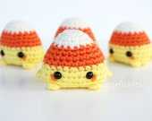 Mini Candy Corn Amigurumi - Kawaii Halloween Plush
