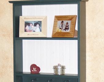 Wood Display Rack 2 Shelf Display Shelf Traditional Early American Style Shaker