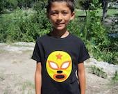 Luchador Amarillo - Yellow Mexican Wrestler Toddler T-Shirt