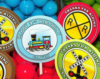 Train Cupcake Toppers Kit Set of 12. Train Party Cupcake Decoration. Train Themed Cupcake Picks. Railroad Cupcake Toppers. Railroad Crossing
