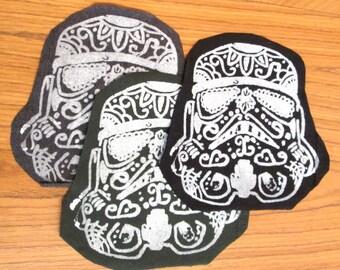 Star Wars Patch - Sugar Skull Storm Trooper - New Colors!
