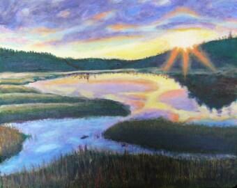 Original Painting Wetlands by Brenda Walden